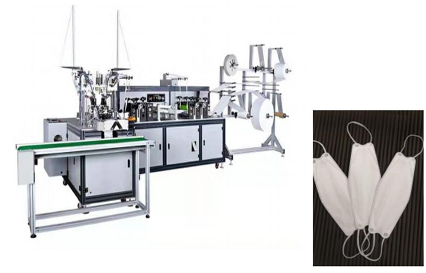 Máy sản xuất khẩu trang tự động 100% moden KF94