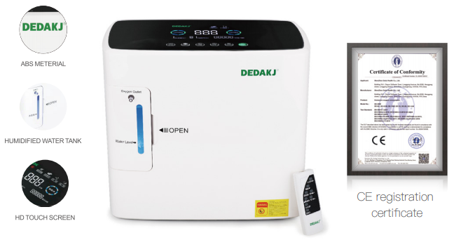 Máy tạo Oxygen Dedakj 1-8L DE-1S-E
