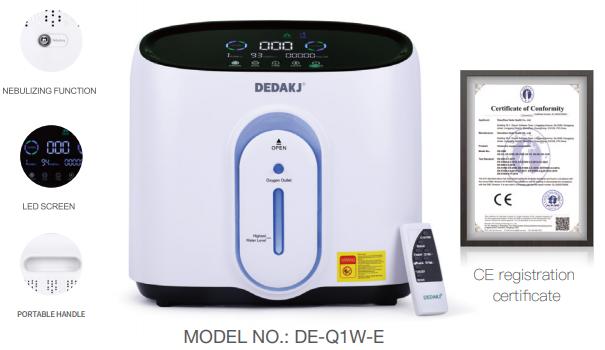 Máy tạo Oxygen Đức DE-Q1W-E, Máy thở thương hiệu Dedakj 2-9L