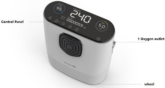 Máy thở, máy tạo oxy XNUO Y8 Breath AI  5L công nghệ Breath AI